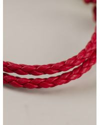 Ferragamo | Red Woven Gancio Bracelet | Lyst