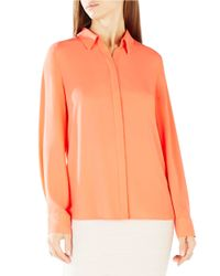 BCBGMAXAZRIA | Orange Dianna Envelope-back Top | Lyst