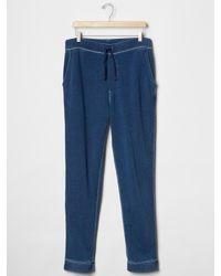 Gap - Blue Indigo Track Pant for Men - Lyst
