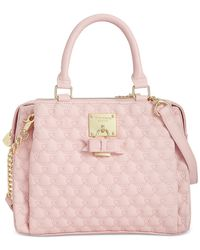 Betsey Johnson | Pink Triple Compartment Satchel | Lyst