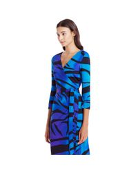 Diane von Furstenberg - Blue New Julian Silk Wrap Dress  - Lyst