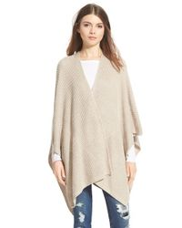 Halogen - Natural Ribbed Cape - Lyst