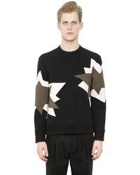 Neil Barrett - Black Neoprene Sweatshirt With Inserts - Lyst