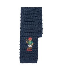 Polo Ralph Lauren - Blue Polo Bear Knit Silk Tie for Men - Lyst