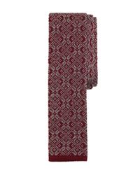 Brooks Brothers | Purple Snowflake Knit Tie for Men | Lyst