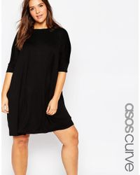 Asos Curve | Black The T-shirt Dress | Lyst