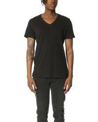 ATM - Black V Neck Vintage Jersey T-shirt for Men - Lyst