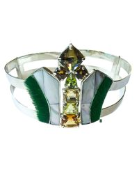 Isabel Englebert | Green Art Deco Choker | Lyst