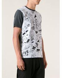 Carven - Blue Graphic Print Tshirt for Men - Lyst