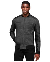 Calvin Klein Jeans | Black Moto Jacket for Men | Lyst