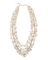 R.j. Graziano | Metallic Multi-strand Beaded Necklace | Lyst