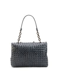 Bottega Veneta - Blue Olimpia Ayers Snakeskin Shoulder Bag - Lyst