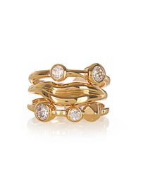 Diane von Furstenberg - Metallic Gold-plated Set Of Three Rings - Lyst