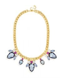 BaubleBar | Purple Electric Scarab Collar | Lyst