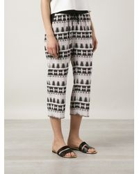 Thakoon Addition - Black Jacquard Cropped Trousers - Lyst