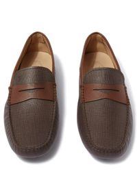 Tod's - Brown Penny Saffiano Leather Driver Shoes for Men - Lyst