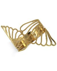 Guess | Metallic Gold-tone Winged Cuff Bracelet | Lyst