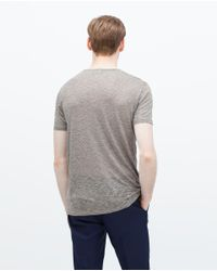 Zara | Gray Button Neck Sweater for Men | Lyst