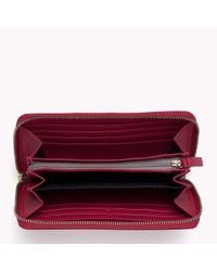 Tommy Hilfiger | Pink Textured Wallet | Lyst
