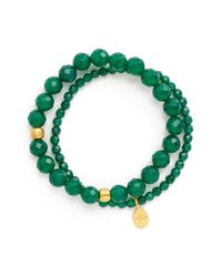 Satya Jewelry - Green Beaded Stretch Bracelets - Lyst