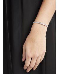 Eddie Borgo | Metallic Silver Plated Pavé Crystal Bracelet | Lyst