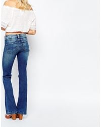 Pepe Jeans - Blue Melissa Flare With Front Pocket - Lyst