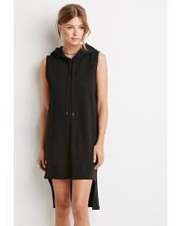 Forever 21 - Black Contemporary Drawstring Hooded Dress - Lyst