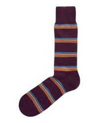 Paul Smith | Multicolor Multi-coloured Block Stripe Socks for Men | Lyst