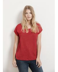 Violeta by Mango - Red Linen T-shirt - Lyst