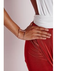 Missguided - Metallic Statement Bar Cut Out Cuff - Lyst