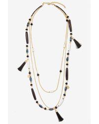 Nasty Gal - Black Priscilla Beaded Necklace - Lyst