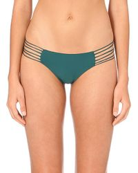 Mikoh Swimwear | Green Kapalua String Bikini Bottoms | Lyst