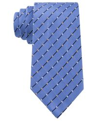Geoffrey Beene - Blue City Grid Tie for Men - Lyst