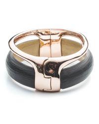 Alexis Bittar | Black Liquid Stacked Hinge Bracelet | Lyst