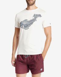 Ted Baker | White Graphic Print T-shirt for Men | Lyst