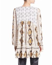 Free People | Multicolor Patterned Tunic Top | Lyst