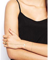 ASOS - Metallic Heart Hand Harness - Lyst