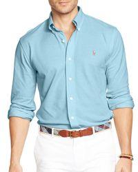 Ralph Lauren | White Polo Oxford Shirt - Slim Fit for Men | Lyst