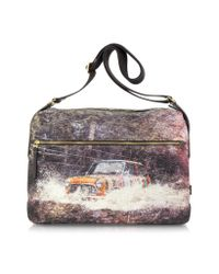 Paul Smith - Purple Mini Rufford Park Print Flight Bag for Men - Lyst