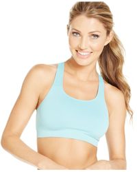 Wacoal | Blue Seamless Wireless Sports Bra 852243 | Lyst