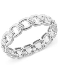 Jones New York | Metallic Silver-tone Chain-link Stretch Bracelet | Lyst