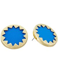 House of Harlow 1960 | Blue Mini Button Earrings | Lyst