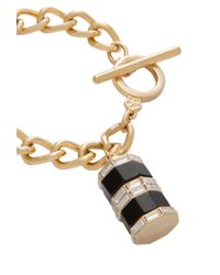 Trina Turk | Metallic Color Charm On Curb Chain | Lyst