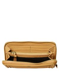 Chloé - Brown Leather Paraty Zip Around Wallet - Lyst