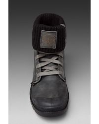 Palladium - Gray Leather/knit Baggy in Grey/black for Men - Lyst