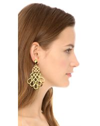 Tory Burch - Metallic Cutout Earrings - Lyst