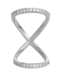 Fallon | Metallic Pave Infinity Ring | Lyst
