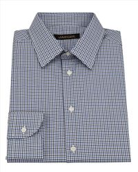 Jaeger - Blue Two Colour Check Shirt for Men - Lyst
