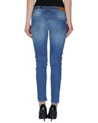 Love Moschino | Blue Denim Trousers | Lyst