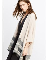 Vince | Natural Graphic Stripe Sweater Cape | Lyst
